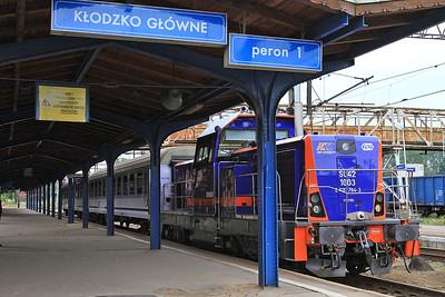 PKP SU42 1003, Kłodzko Gł, TLK66153 13.00 Wrocław-Kodowa Zdrój - 23/07/15.
