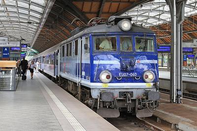 PKP EU07 040, Wrocław Gł, TLK38113 06.56 Kraków-Kołobrzeg - 23/07/15.