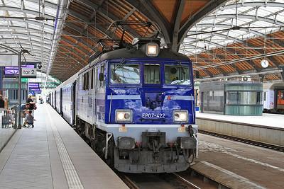 PKP EP07 422, Wrocław Gł, IC38101 02.17 Przemyśl-Szczecin - 23/07/15.