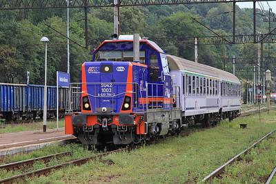 PKP SU42 1003 arr Kłodzko Gł, TLK66150 13.16 Kodowa Zdrój-Wrocław - 23/07/15.