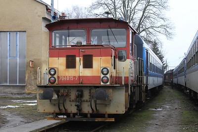 ČD 704015, Šumperk depot - 06/02/16.