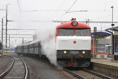 ČD 751001, Šumperk, NFP 'Steaming Through Jeseníky' - Day 1 - 06/02/16.