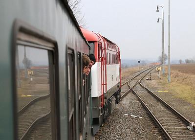ČD 751001 dep Mladeč, NFP 'Steaming Through Jeseníky' - Day 1 - 06/02/16.