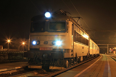 ČD 242236, Vranovice, Os4624 19.16 to Křižanov - 05/02/16.