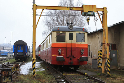 ČD Preserved Railcar M262.1168, Šumperk depot - 06/02/16.