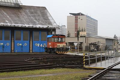 ČD 799029 outside Šumperk depot - 06/02/16.