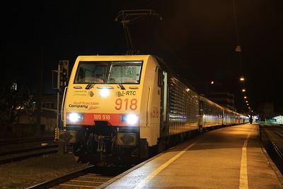 Lokomotion 189918, Kufstein, M79410 06.29 to München - 11/11/16.