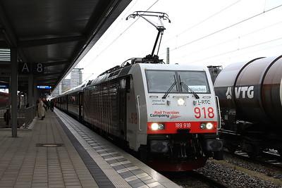 Lokomotion 189918, München Ost, M79410 06.29 Kufstein-München (terminated here due to engineering work) - 11/11/16.