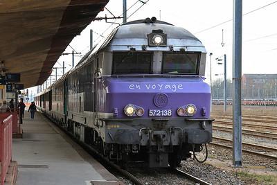 SNCF 72138, Belfort, 1742 08.20 to Paris Est - 24/03/16.