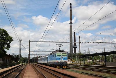 ČD 163079 dep Nymburk Hl, R790 11.15 Kolín-Ústí nad Labem - 30/06/17.