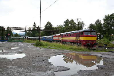 """ŽSSKC 751 131 + SVV 749 248, Hronec, R31223 SSA """"Diesel Tour 2017"""" - Day 1 (Joined with another charter for this leg) - 01/07/17."""