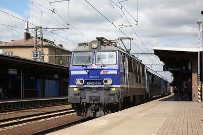 PKP EP09 016, Kolín, EC115 10.22 Praha-Kraków - 30/06/17.