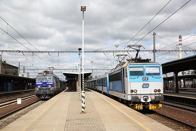 PKP EP09 016 / ČD 163067, Kolín, EC115 10.22 Praha-Kraków / Os5007 11.37 to Česká Třebová - 30/06/17.