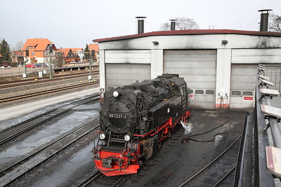HSB 99 7237, outside Wernigerode depot - 02/03/17.