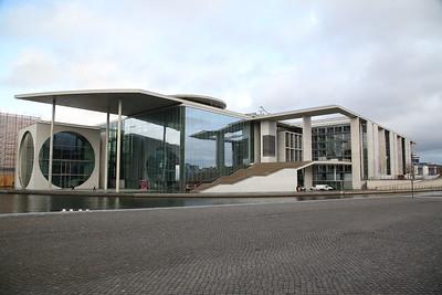 Modern building on the riverside, Berlin - 01/03/17.