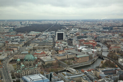 View of Berlin from the Fernsehturm (Television Tower) at Alexanderplatz - 01/03/17.