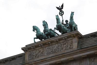 Brandenburg Gate Quadriga statue, Berlin - 01/03/17.
