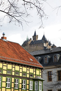 Wernigerode Schloss viewed from the Altstadt - 02/03/17.