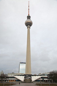 Fernsehturm (Television Tower), Alexanderplatz, Berlin - 01/03/17.