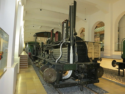 Sectioned 1853-built 0-6-0, B.V. 125  'Nordgau', on display in the DB museum, Nürnberg - 03/01/17.