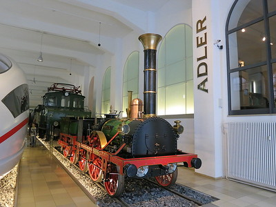 Replica of 'Adler' ('Eagle'), Germanys first steam loco, built by Robert Stephenson & Co. in Newcastle - 03/01/17.