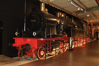 DB 4-6-4T, 78 510 (Prussian T18), on display in the DB museum, Nürnberg - 03/01/17.