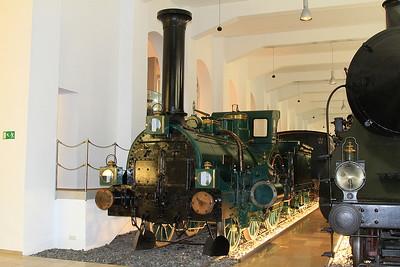 Bavarian State Railway Crampton 4-2-0 'Phoenix' (built 1863, Karlsruhe) on display in the DB museum, Nürnberg - 03/01/17.