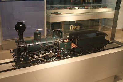 1:10 model Bavarian AI3 2-2-2 on display in the DB museum, Nürnberg - 03/01/17.