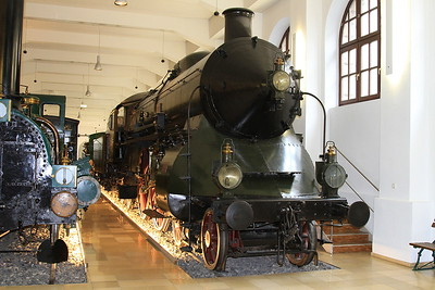 Bavarian State Railway Class S 2/6 4-4-4 3201 (built J A Maffei, Munich, 1906) on display in the DB museum, Nürnberg - 03/01/17.