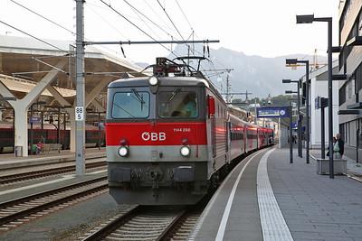 ÖBB 1144 268, Salzburg Hbf, Rex1528 19.08 to Wörgl - 08/09/17