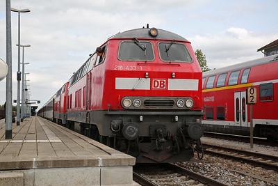 DB 218433 + 218404, Buchloe, EC194 12.11 München-Zürich - 08/09/17