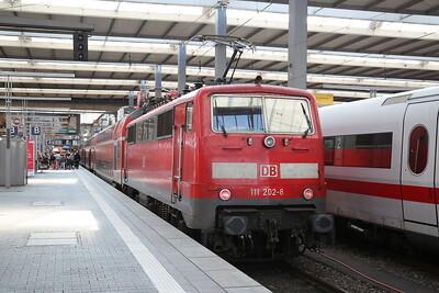 DB 111202, München Hbf, RE4009 09.05 ex Ingolstadt - 08/09/17