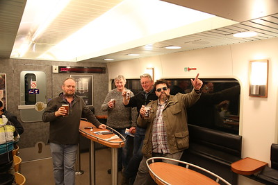 Beers on the night train to Kemijärvi - 04/10/17