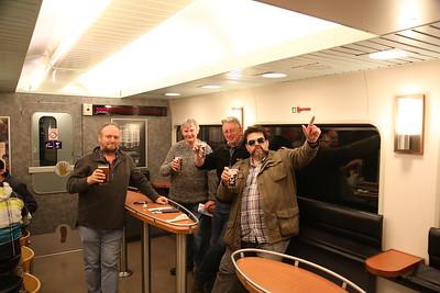Beers on the night train to Kemijärvi - 04/10/17