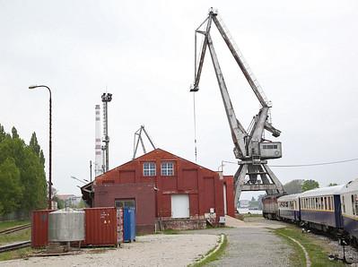 ZSSKC 751084 heading into Komárno docks, 13102 PTG 'The Great Hungarian Track Bash' Day 1 - 27/04/17.