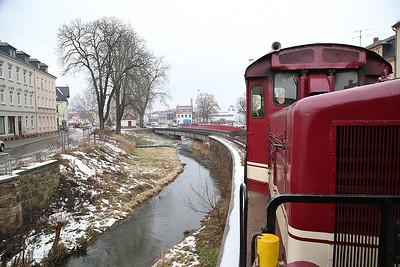 DBG 199030 arriving at Oschatz, DBG107 14.14 ex Glossen bei Oschatz - 03/02/17.