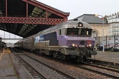 SNCF 72130 dep Troyes, 1641 08.42 Paris Est-Veseul - 28/01/17.