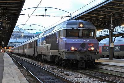SNCF 72130, Paris Est, 1641 08.42 to Veseul - 28/01/17.
