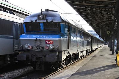 SNCF 72189, Paris Est, 1547 16.42 to Belfort - 28/01/17.