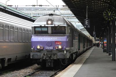 SNCF 72190, Paris Est, 1543 13.12 to Belfort - 28/01/17.