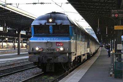 SNCF 72189 dep Paris Est, 1547 16.42 to Belfort - 28/01/17.