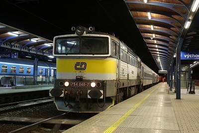 ČD 754048, Ústí nad Labem hl, R1162 16.28 ex Liberec (Vice DMU) - 02/02/18