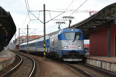 ČD 380020, Praha hl, Ex1545 13.38 Praha Holešovice-Linz - 02/02/18