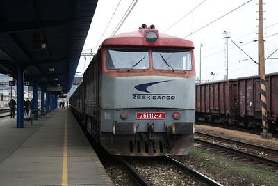 "ŽSSKC 751112, Čadca, Ex30007 Grumpy Railtours ""The West Slovakia Winter Cargo Tour"" - Day 1 - 03/02/18"