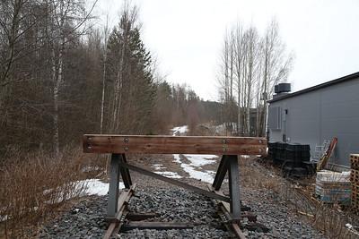 Bufferstops at Lohikoski (truncated branch of the old main line alignment North of Jyväskylä) - 20/04/18