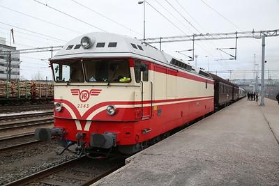 """VR Dr13 2343, Jyväskylä, MUS1921 BLS """"Central/Northern Finland Freight Line Railtour"""" Day 1 - 20/04/18"""