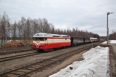 """VR Dr13 2343, Saarijärvi, MUS1921 BLS """"Central/Northern Finland Freight Line Railtour"""" Day 1 - 20/04/18"""