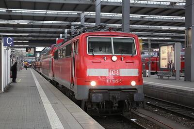 DB 111185, München Hbf, RE4888 15.59 to Ingolstadt - 20/02/18