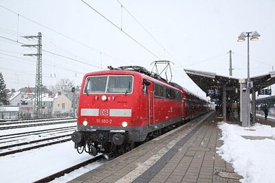 DB 111052, München Pasing, RE57092 16.41 München-Donauworth - 20/02/18
