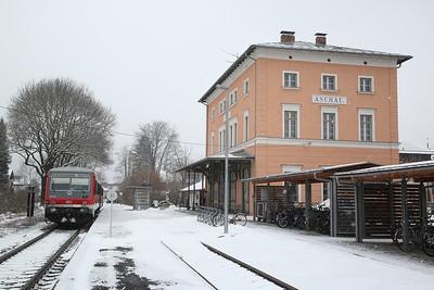 DB DMU 628570, Aschau (Chiemgau), RB27559 10.03 ex Prien am Chiemsee - 20/02/18